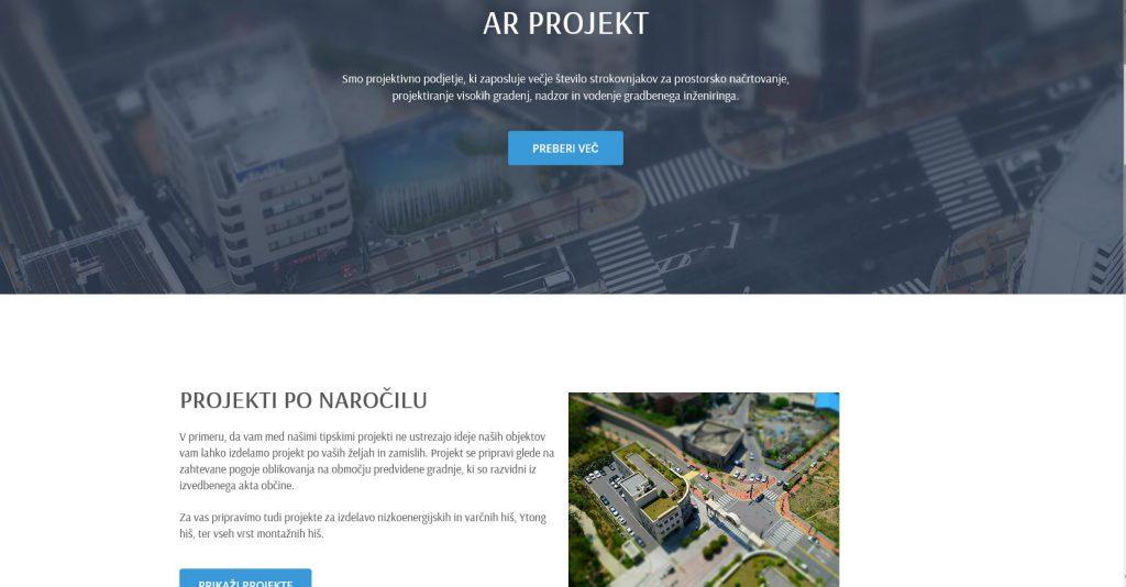 ADEBO izdelava spletne strani: arprojekt